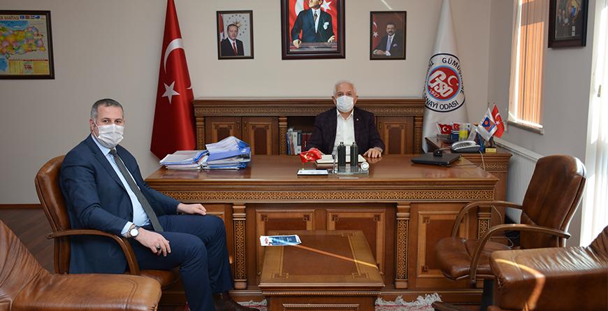 Sanayi ve Teknoloji İl Müdürü Tarkan Tarık Kocagöz den GTSO Başkanımız İsmail Akçay a Ziyaret