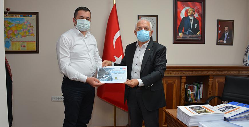 TÜMKİAD GÜMÜŞHANE ŞUBESİ BAŞKANI SERHAT TURHAN' DAN ZİYARET