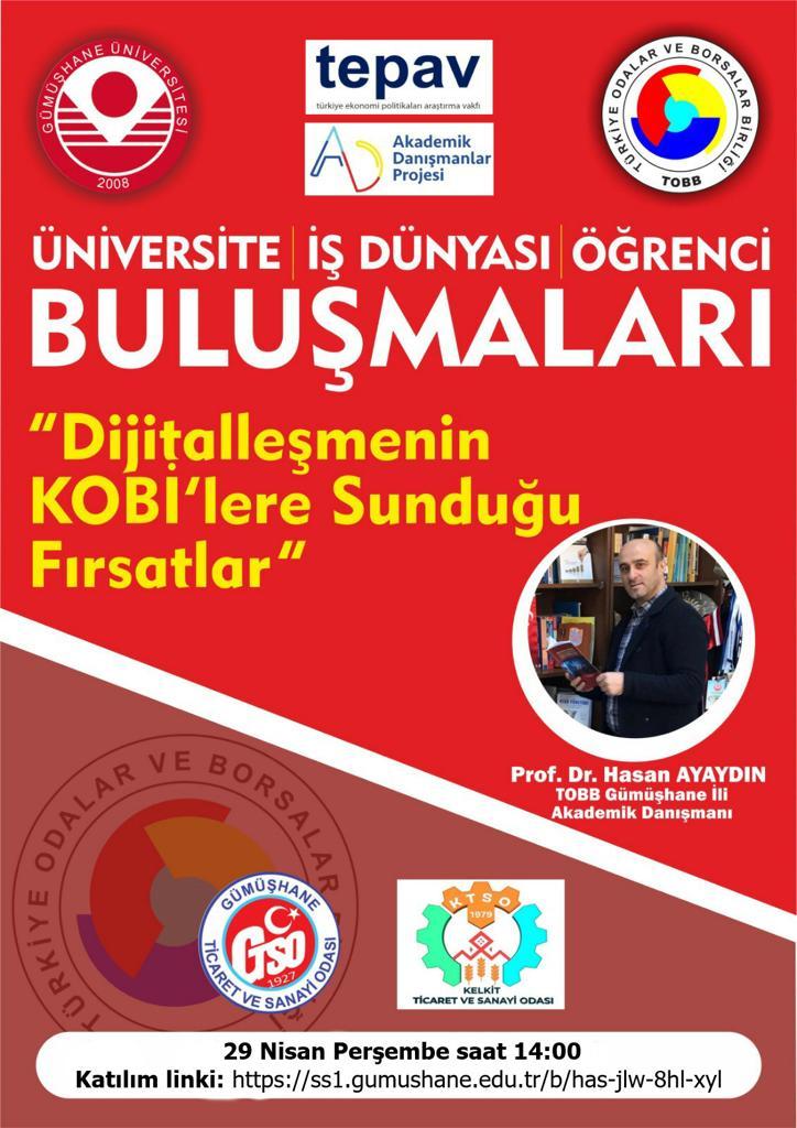 'DIJITALLEŞMENIN KOBILERE SUNDUĞU FIRSATLAR' -WEBİNAR
